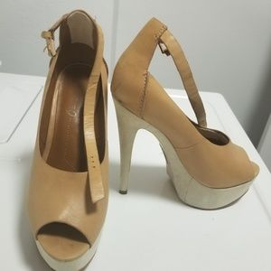 Boutique 9 Platform Sandals Beige
